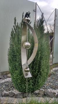 Gartenstecker aus Edelstahl 05