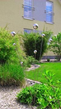 Gartenstecker aus Edelstahl 01