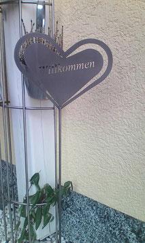 """Gartenstecker aus Edelstahl """"Hertz"""""""