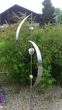 Gartenstecker aus Edelstahl 04