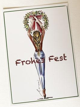 Postkarte - Frohes Fest
