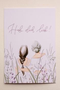 Postkarte - Hab dich lieb
