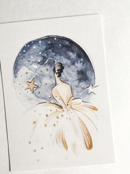 Postkarte - Mondschein