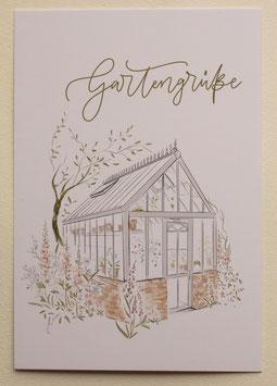 Postkarte - Gartengrüße