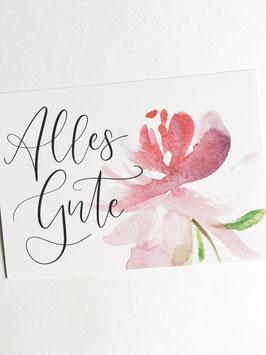 Postkarte - Alles Gute