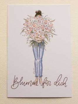 Postkarte - Blumen für dich