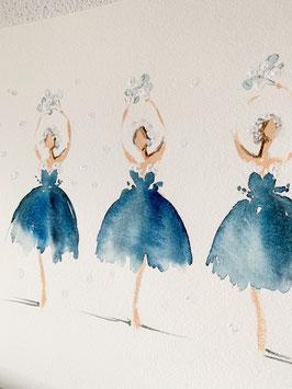 Ballettszene Schneetänzerinnen