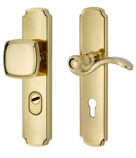 Klassische Langschild Sicherheitsgarnitur ES3 zertifiziert 951-913 mit Kernziehschutz KZS