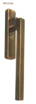 FAMA Hebe Schiebetür Griff MG2146 aus Bronze mit Griffmuschel außen