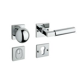 Bauhaus Sicherheits Rosettengarnitur im Design nach Walter Gropius GRO K 20-44 SH