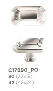 Alfredo Porro Art dèco Möbelknopf MK C17890 und Schlüsselschild