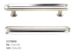 Art dèco Möbelgriff C17890 aus Messing in 2 verschiedenen Längen und diversen Finishes / Oberflächen