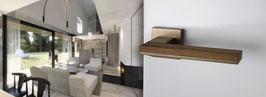MIMOLIMIT PVD TiN-B braun matt mit Holz.    Design: Barbara Škorpilová 2009