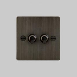 Lichtschalter 2G smoked Bronze