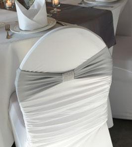 Stuhlband Stretch mit Schmuckbrosche