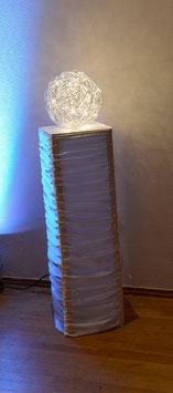 Deko-Säule mit Leuchtkugel 100cm