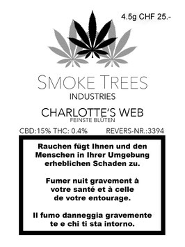 "Smoke Trees ""Charlotte Web Indoor"""