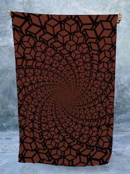 """geometrisches Dekotuch """"Cubic Spiral"""""""