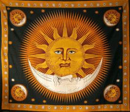 """indisches Dekotuch """"Sun and Moon"""""""