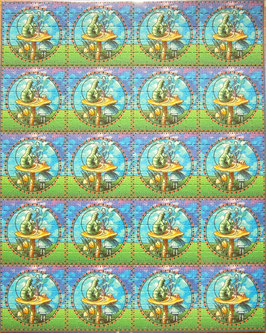 "Blotter Art ""Caterpillar"""