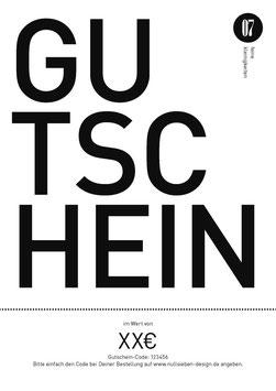 nullsieben design Gutschein