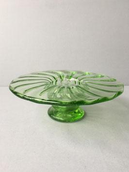 Groen glazen vaasje