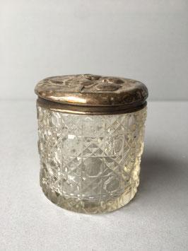 Kristallen Edward VII Kaptafelpotje Met Zilveren Dekseltje