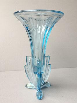 Turquoise Blauw Art Deco Vaas