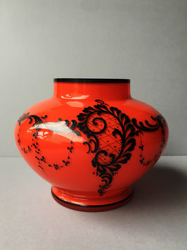 Art Nouveau vaas, rood
