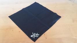 Schwarzes Schnupftuech mit aufgedrucktem Huusfraue-Gruess-Logo