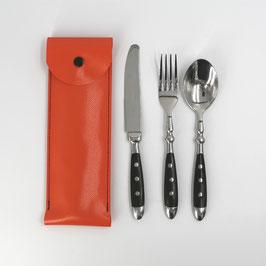 Besteck-Set in Tasche