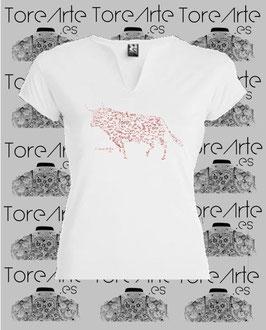 Camiseta Mod. TORO MOSAICO (Chica).