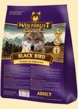 Wolfsblut Black Bird Trockenfutter für Hunde mit Truthahn und Süßkartoffel - 15 kg ADULT