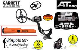 Garrett AT PRO Metalldetektor + Pro Pointer AT