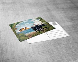 Postkarte | Lost Elysion & Band Motiv | Herbert Pixner Projekt | 3-D Druck