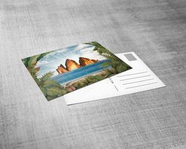 Postkarte | Lost Elysion Motiv | Herbert Pixner Projekt | 3-D Druck