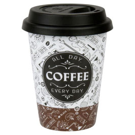Porzellan Coffee to Go Becher 0,38 l