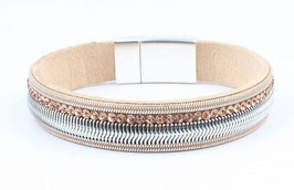 Armband Waves Roze/Taupe