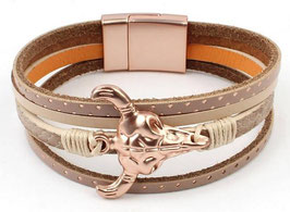 Armband Multi Row Buffalo Rosé