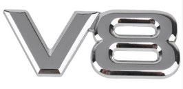 V8 Sticker metall 2