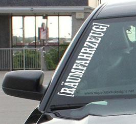 Räumfahrzeug Aufkleber