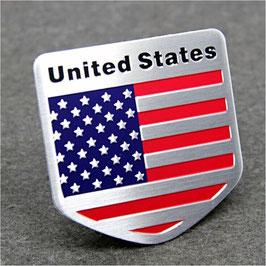 USA Flagge aus Metall