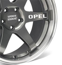 4x Opel Felgenaufkleber