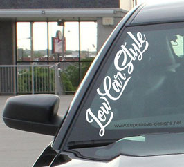 Low Car Style Aufkleber