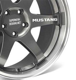 4x Mustang Felgenaufkleber