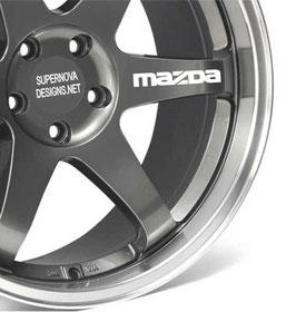 4x Mazda Felgenaufkleber