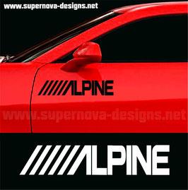 Alpine Aufkleber
