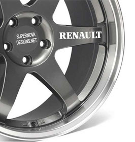 4x Renault Felgenaufkleber