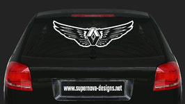 Flügel mit Renault Emblem