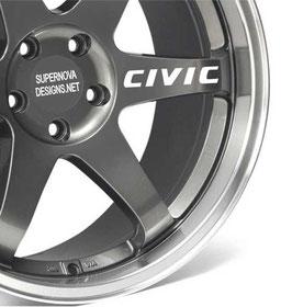 4x Honda Civic Felgenaufkleber
